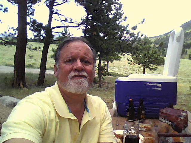 Up in the mountains for a picnic