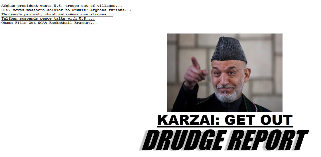 Drudge is having fun again this morning.